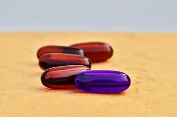 Bright violet capsules