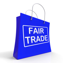 Fairtrade Shopping Bag Shows Fair Trade Product Or Products