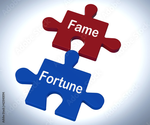 Fame Fortune Puzzle Shows Celebrity Or Well Off