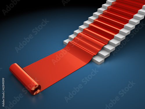 red carped steps