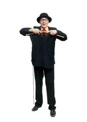 Man in a black suit