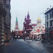 nikolskaya street near red square in moscow