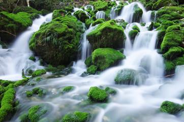 rivière en pause longue - chartreuse