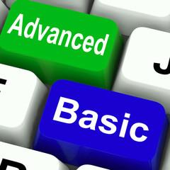 Advanced And Basic Keys Show Program Levels Plus Pricing