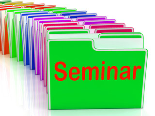 Seminar Folders Show Convention Presentation Or Meeting