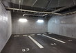 Parking garage underground interior, neon lights in dark - 62842031
