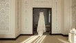 Honeymoon Room, filled with light. In the doorway hanging bride