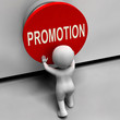 Постер, плакат: Promotion Button Shows New And Higher Role