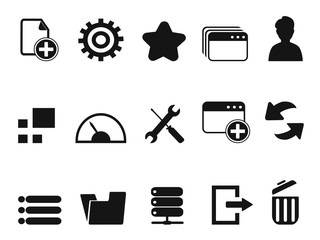 web Dashboard icons set