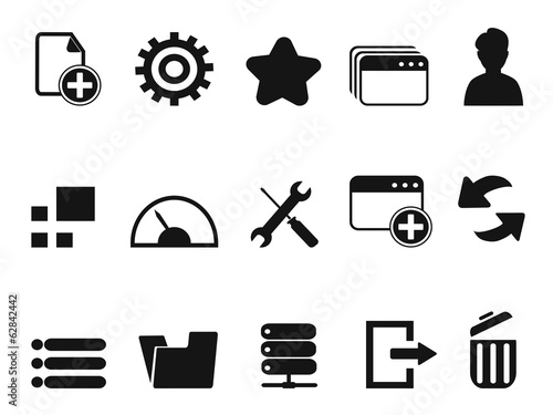 web Dashboard icons set