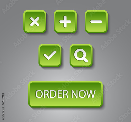 Set of vector web buttons