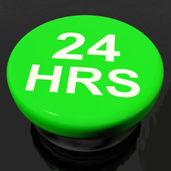 Twenty Four Hours Button Shows Open 24 hours