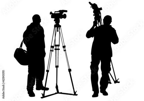 Journalist and tripod