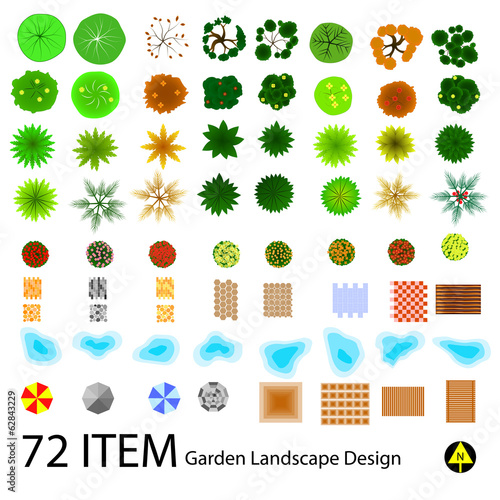 landscape design top view item