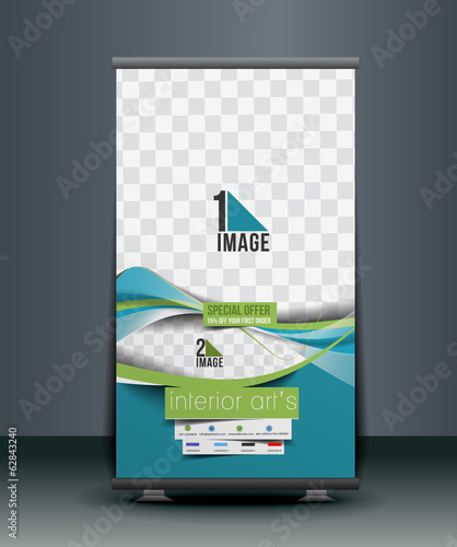 Home Decoration Business Roll Up Banner Design