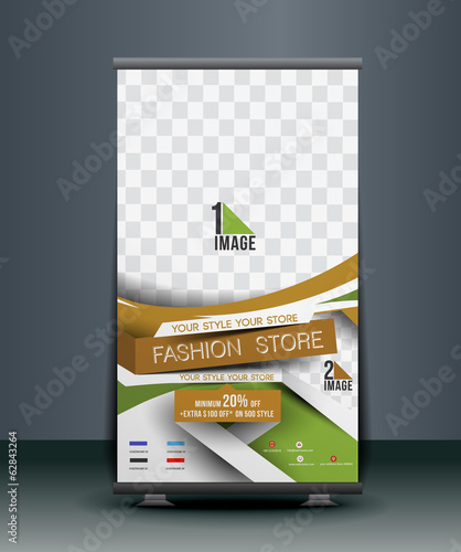 Fashion Store Roll Up Banner Design