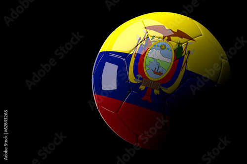 Ecuador soccer ball on dark background