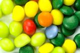 Multicolored confection poster