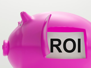 ROI Piggy Bank Shows Return On Investment