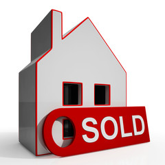 Sold House Shows Successful Offer Or Auction