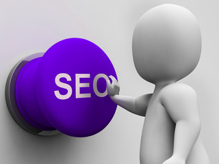 SEO Button Shows Internet Marketing In Search Results