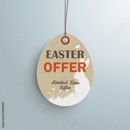 Easter Offer Vintage Price Sticker Silver Background ltd Time