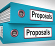 Proposals Folders Mean Suggesting Business Plan Or Project