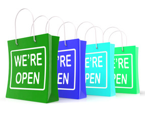 We're Open Shopping Bags Shows New Store Launch