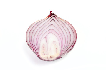 One half of red onion