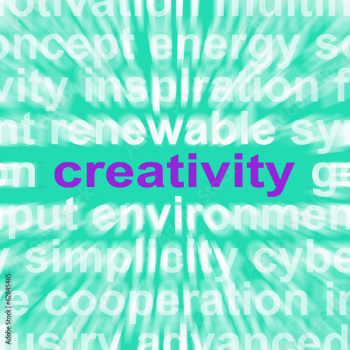 Creativity Word Shows Originality, Innovation And Imagination