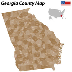Georgia County Map