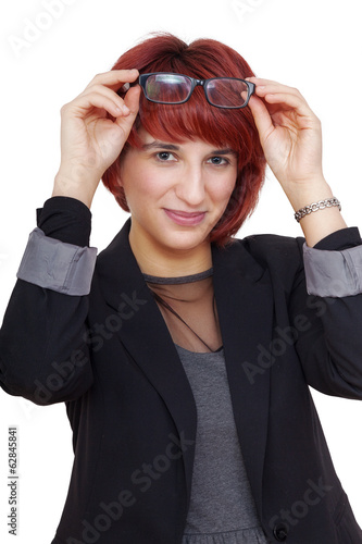 Elegant fashionable woman with glasses