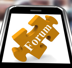 Forum Smartphone Shows Internet Discussion And Exchanging Ideas