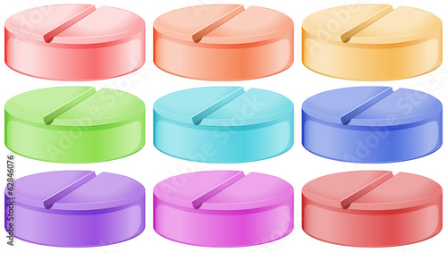 Colourful tablets