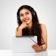 Teen girl using a tablet