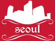 Seoul - name and city silhouette