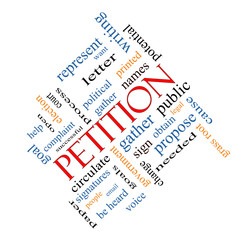 Petition Word Cloud Concept Angled