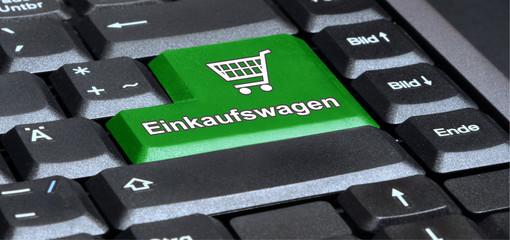 Enter key in green - Einkaufswagen - g650