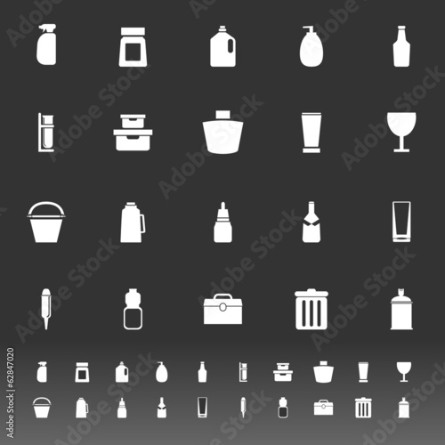 Design package icons on gray background