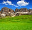 Dolomite peaks,Sella,Val di Fassa, Italy Alps