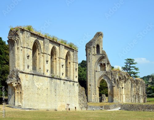 Glastonbury Abbey in Somerset, England, United Kingdom - 62847474