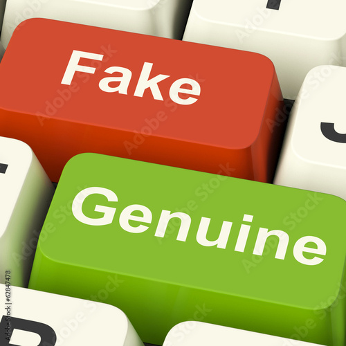Fake Genuine Keys Means Authentic or Faked Product