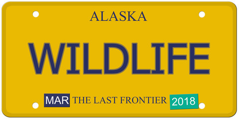 Wildlife Alaska License Plate