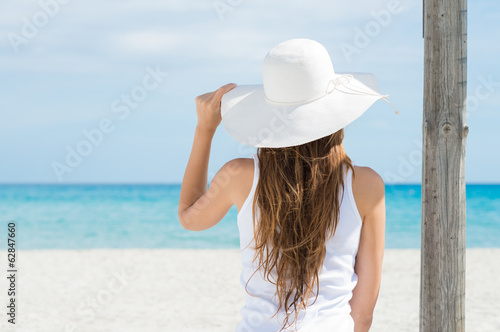 Young Woman Looking At Sea