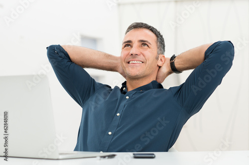 Relaxed Man Daydreaming