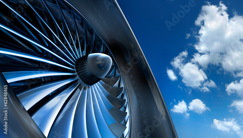 canvas print picture Turbine mit Wolkenhimmel