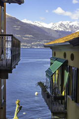 Varenna-Lecco Lake-City detail color image