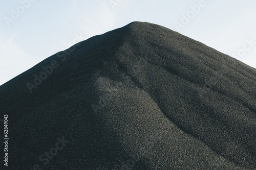 Black coloured gravel pile at a quarry, Seattle, Washington, USA