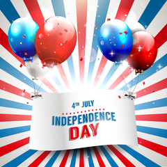 Independence day - vector background