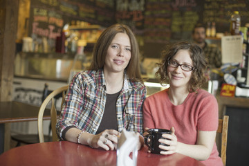 A coffee shop and cafe in High Falls called The Last Bite. Two women sitting at a table.